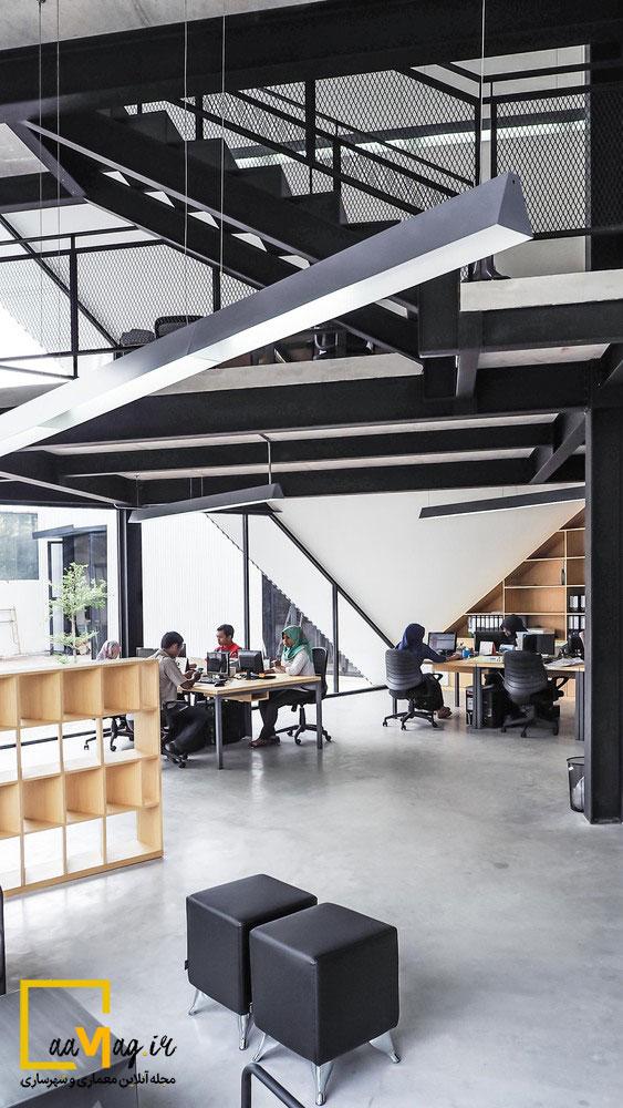 طراحی دفتر اداری KL - پلکان
